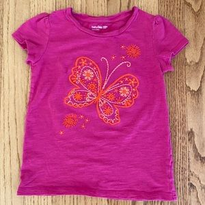 🍭6/$30 Gap embroidered butterfly tee - S